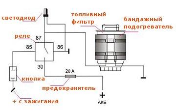 подогреватель топливного фильтра дизельного двигателя своими руками