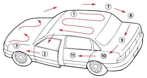 как правильно наносить металлик на авто