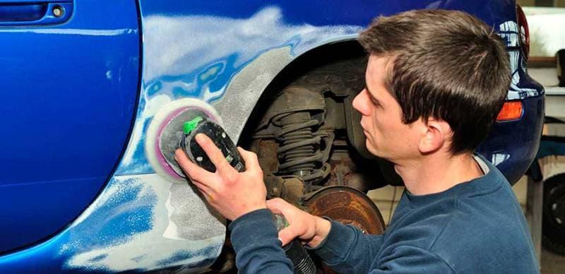 технология покраски новой детали автомобиля